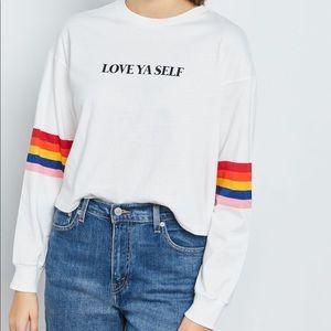 F21 : : Love Ya Self Cropped Shirt : :